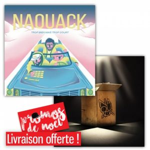 pack 2 CD naouack - trp bien trp court/ hip hop en carton